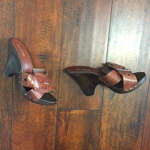 Aldo Leather Mule Sandals